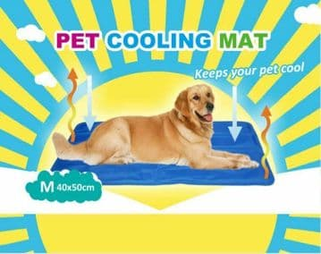 PET DOG COOLING MAT - 5 Sizes - ADULT COOL MAT - Cat Horse Pony 60cm x 90cm